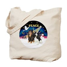 X-SUnrise-Two Cavaliers Tote Bag