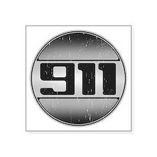 """911 copy dark Square Sticker 3"""" x 3"""""""