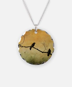 Two Crows On A Branch Necklace