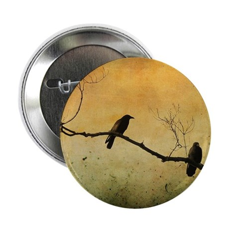 "Two Crows On A Branch 2.25"" Button"