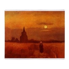 Van Gogh Old Tower Throw Blanket