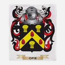 Opie Coat of Arms (Family Crest) Throw Blanket