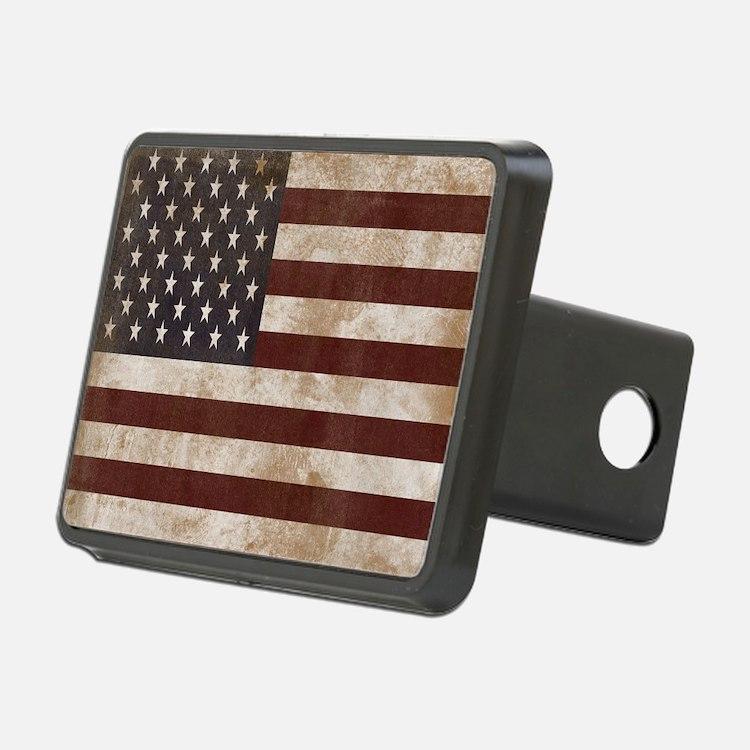 Vintage American Flag King Rectangular Hitch Cover