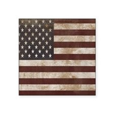 "Vintage American Flag King  Square Sticker 3"" x 3"""