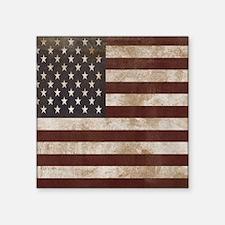"Vintage American Flag King  Square Sticker 3"" x 3"""
