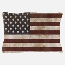 Vintage American Flag King Duvet 1 Pillow Case