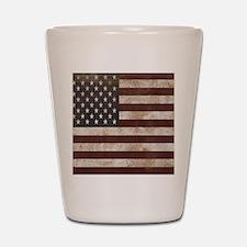 Vintage American Flag King Duvet 1 Shot Glass