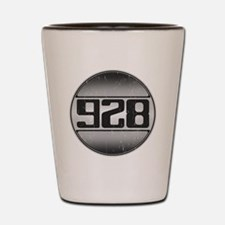 928 copy dark Shot Glass