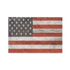 Vintage American Flag Rectangle Magnet