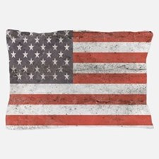 Vintage American Flag Pillow Case