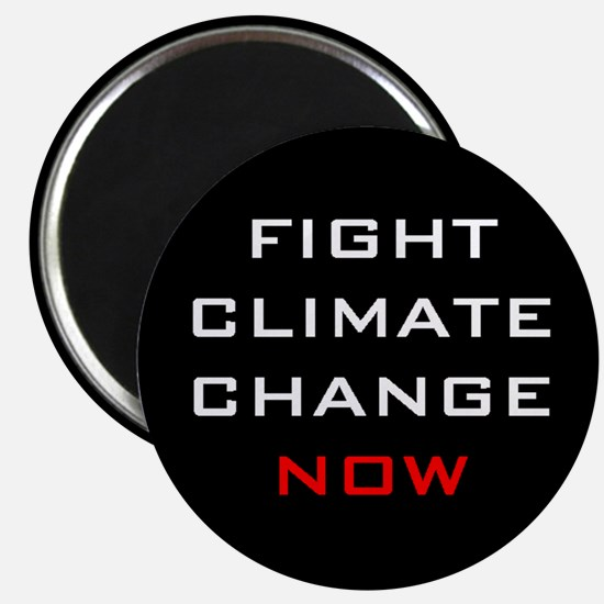 """Fight Climate Change Now 2.25"""" Round Magnet"""