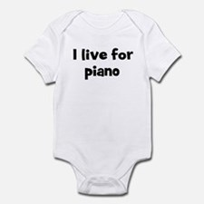 Live for piano Infant Bodysuit