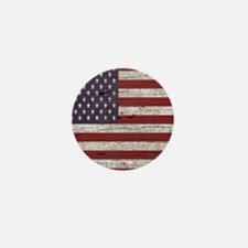 Cracked American Flag Mini Button