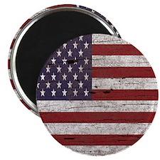 Cracked American Flag Magnet