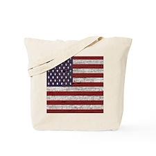 Cracked American Flag Tote Bag