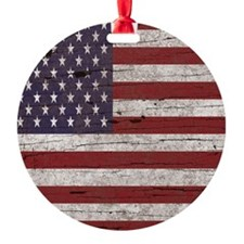 Cracked American Flag Ornament