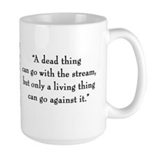 "G.K. Chesterton ""Living Thing"" Mugs"