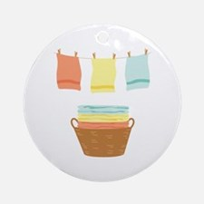 Clothes Line Ornament (Round)