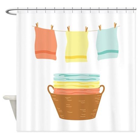 Clothes Line Shower Curtain By Hopscotch5