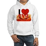 I LOVE Evil Conservatives Hooded Sweatshirt