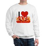 I LOVE Evil Conservatives Sweatshirt