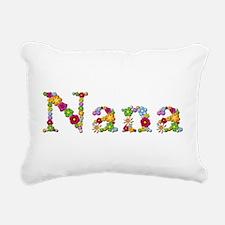 Nana Bright Flowers Rectangular Canvas Pillow