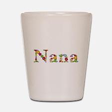 Nana Bright Flowers Shot Glass