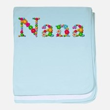 Nana Bright Flowers baby blanket
