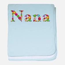Nana Bright Flowers baby blanket