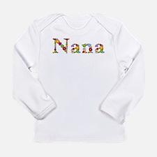 Nana Bright Flowers Long Sleeve T-Shirt
