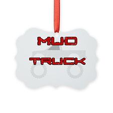 Mud Pickup Truck Dark Ornament