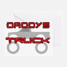 Daddys Pickup Truck Dark Greeting Card