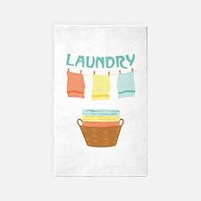 Laundry 3'x5' Area Rug