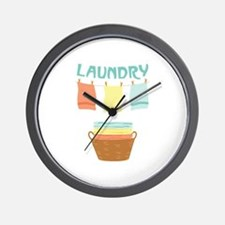 Laundry Wall Clock