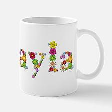 Mikayla Bright Flowers Mugs
