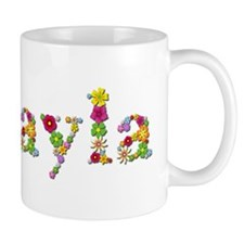 Mikayla Bright Flowers Mugs