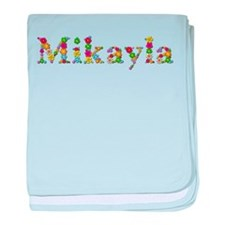 Mikayla Bright Flowers baby blanket