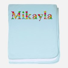 Mikayla Bright Flowers baby blanket