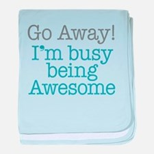 Busy Being Awesome baby blanket