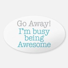 Busy Being Awesome Sticker (Oval)