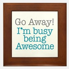 Busy Being Awesome Framed Tile