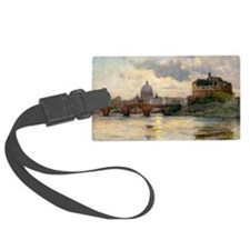 St Peter's Rome From The Tiber Luggage Tag