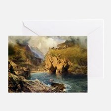 King Arthur's Castle, Off Tintagel H Greeting Card