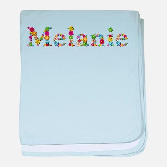 Melanie Bright Flowers baby blanket