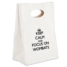 Keep calm and focus on Wombats Canvas Lunch Tote