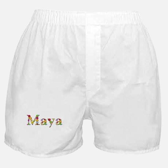 Maya Bright Flowers Boxer Shorts