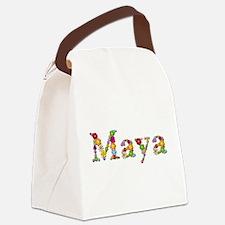 Maya Bright Flowers Canvas Lunch Bag