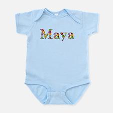 Maya Bright Flowers Body Suit