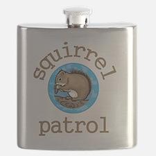 Squirrel Patrol Flask