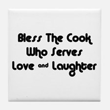 Bless The Cook Tile Coaster